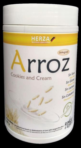 Leche de Arroz integral, sabor cookies and cream x 500 g $18.936 + IVA 19%...$22.