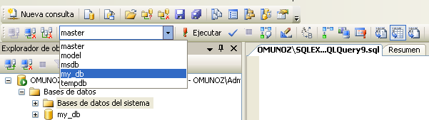 Creando la tabla en la base de datos my_db 1.
