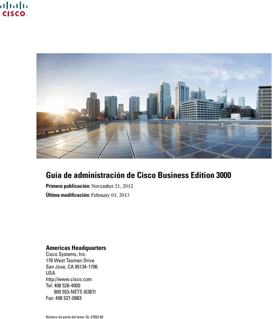 Guía de administración de Cisco Business Edition PDF
