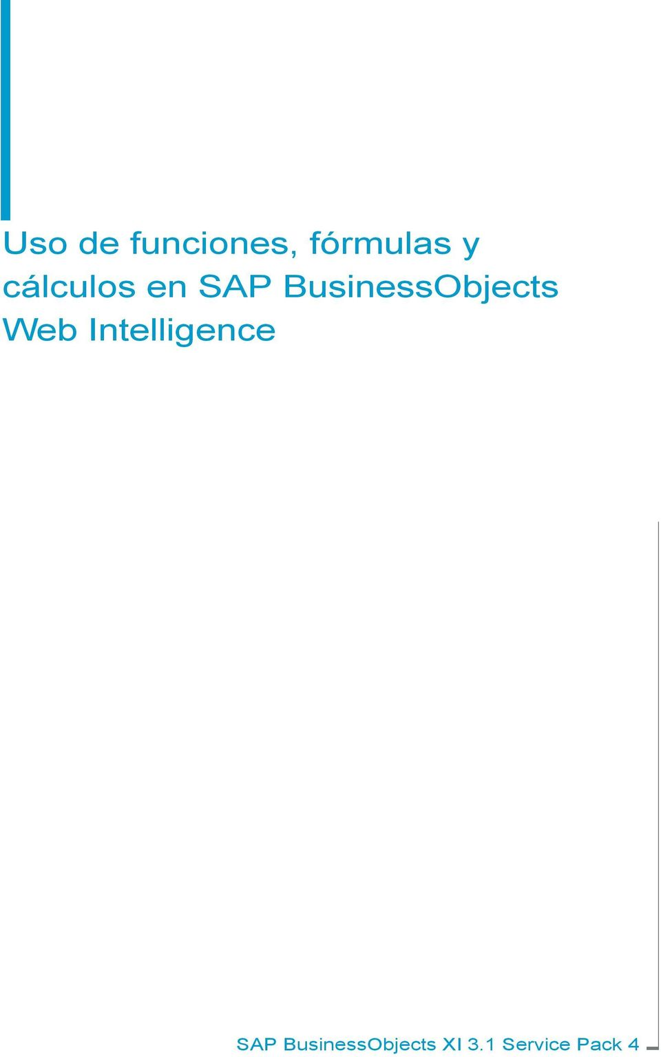 sap business objects documentation pdf