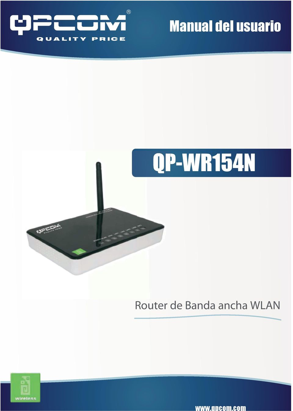 Manual del usuario QP-WR154N. Router de Banda ancha WLAN. - PDF
