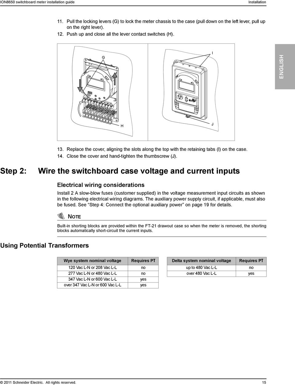 Powerlogic Ion Pdf Case Vac Wiring Diagram Lose The Cover And Hand Tighten Thumbscrew J