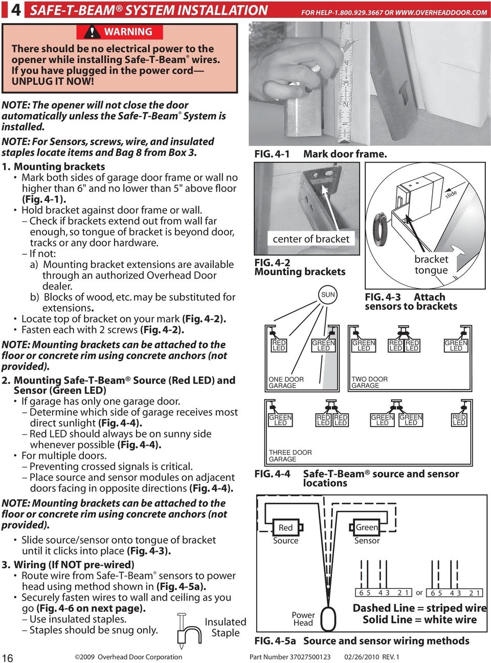 Legacy 800 Model Pdf Overhead Door Wiring Diagrams Note For Sensors Screws Wire And Insulated Staples Locate Items Bag