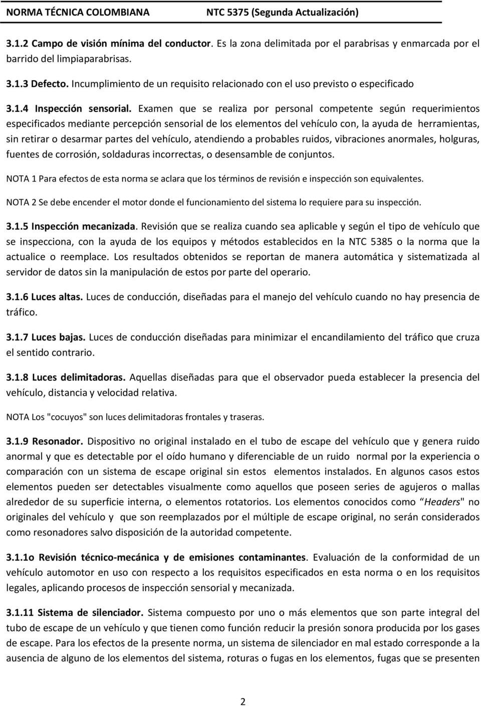 NORMA TÉCNICA COLOMBIANA PDF