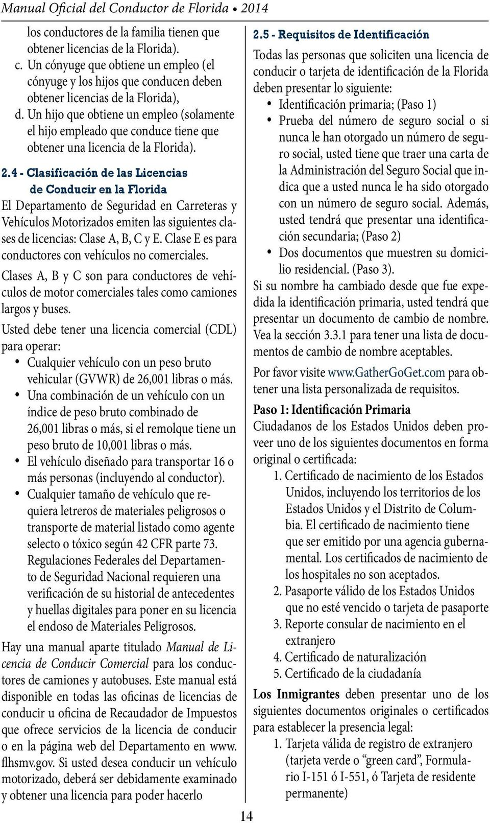 Manual del conductor de la Florida - PDF