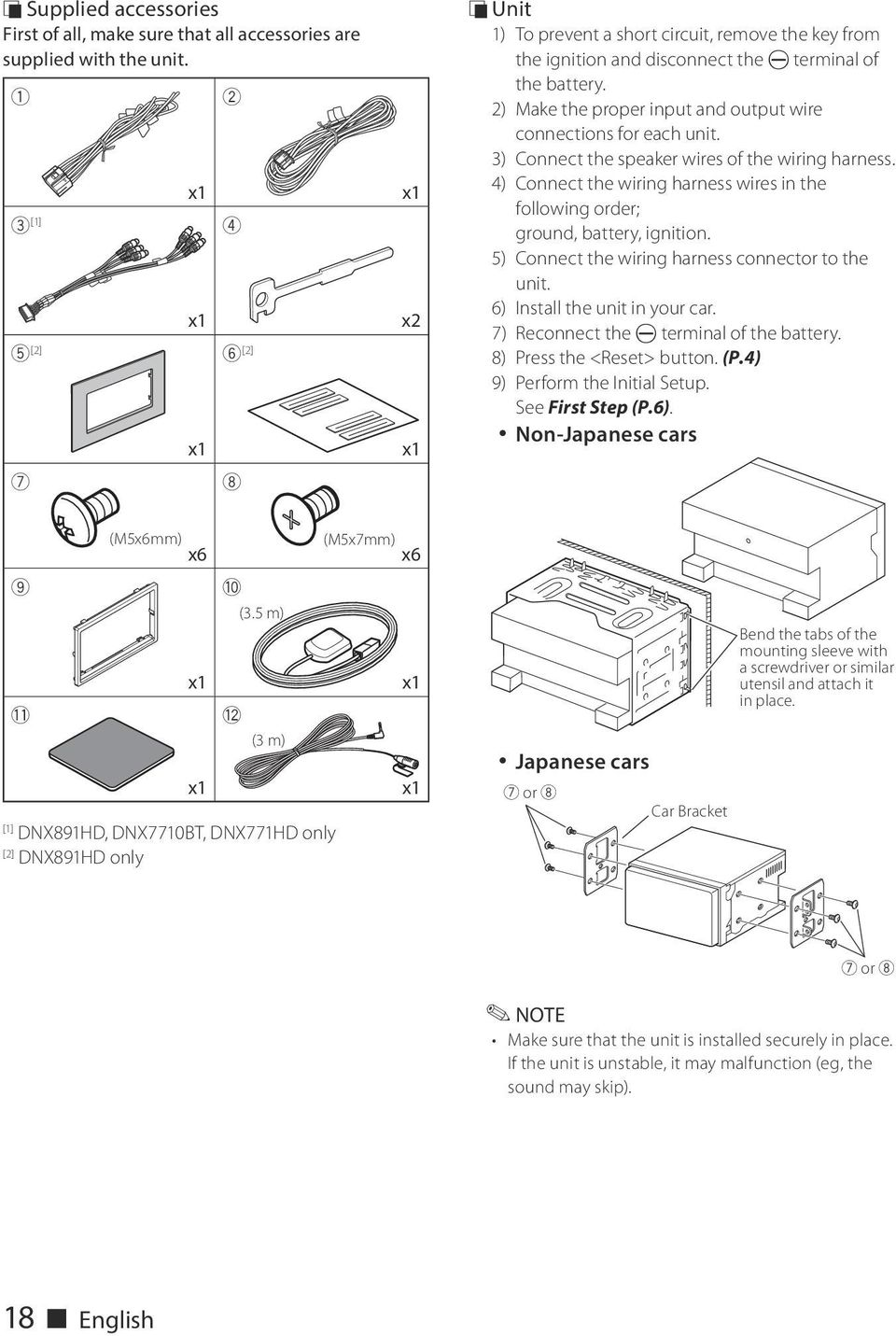 Dnx891hd Dnx7710bt Dnx771hd Dnx691hd Dnx571hd Dnx571ex Dnx5710bt Pdf Japan Car Wiring Diagram 2 Make The Proper Input And Output Wire Connections For Each Unit 3