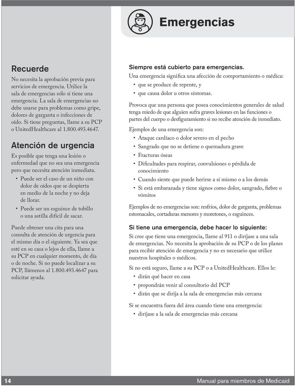 UnitedHealthcare Community Plan Manual para miembros de Medicaid - PDF
