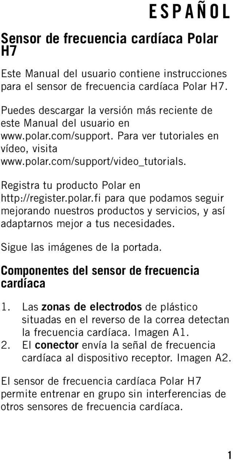 Polar h7 user manual