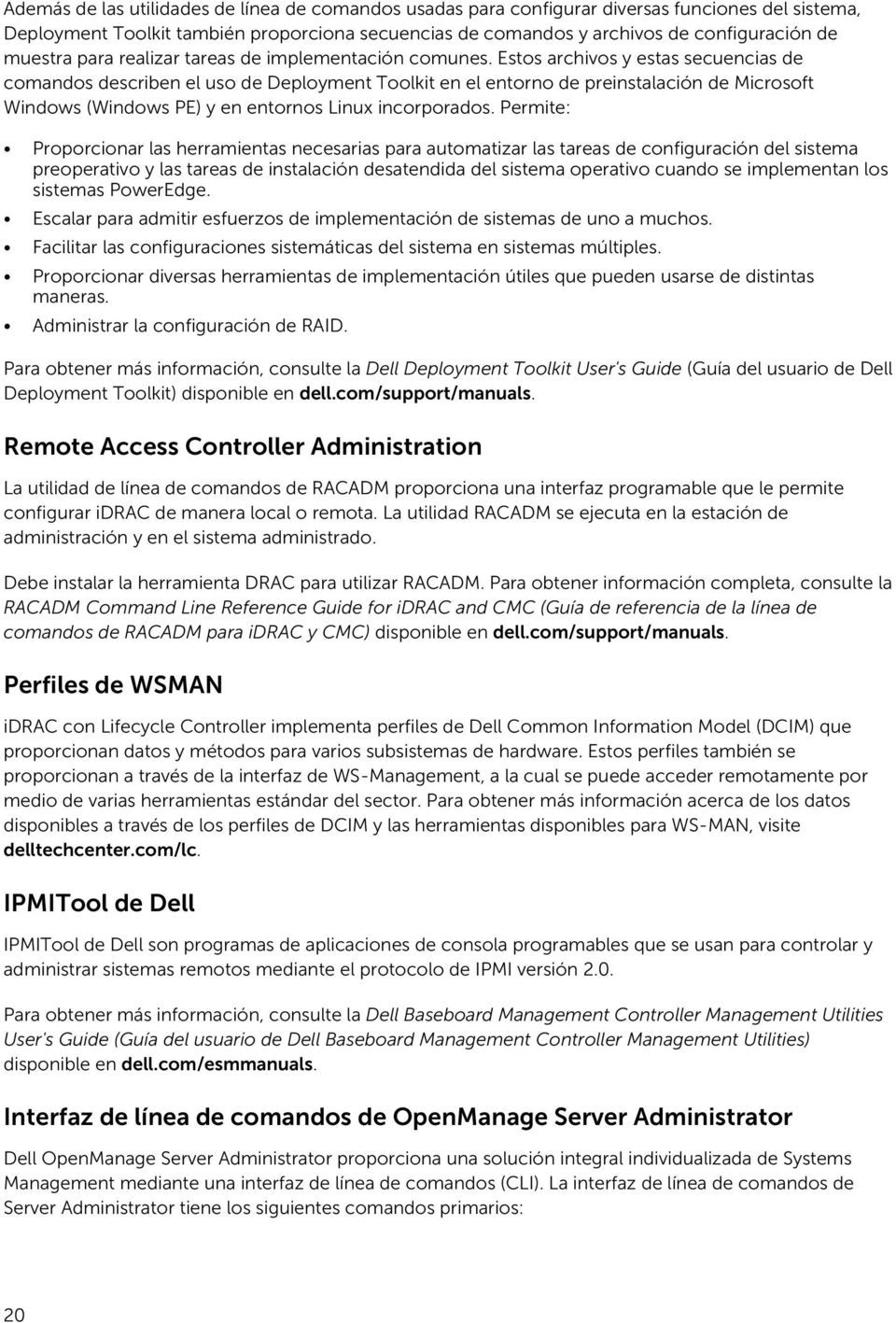 Guía de descripción general de Dell OpenManage Systems