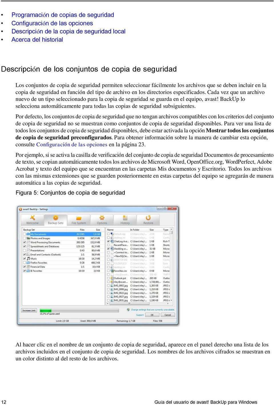 Guía del usuario de avast! BackUp para Windows - PDF
