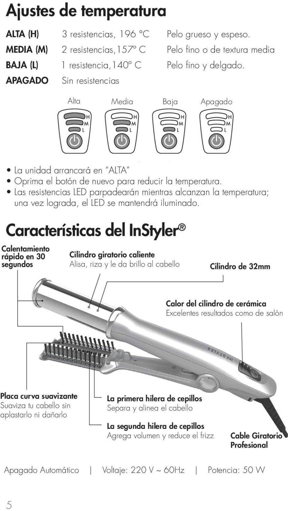 Plancha Giratoria Manual De Usuario 32mm Plancha Instyler Pdf Free Download
