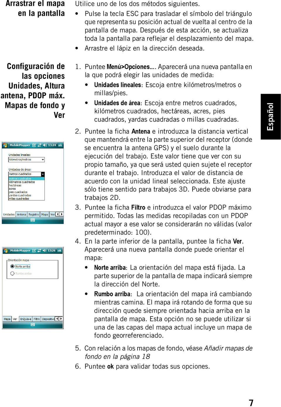 MobileMapper Field & Office Software for MobileMapper 6. Guía básica ...
