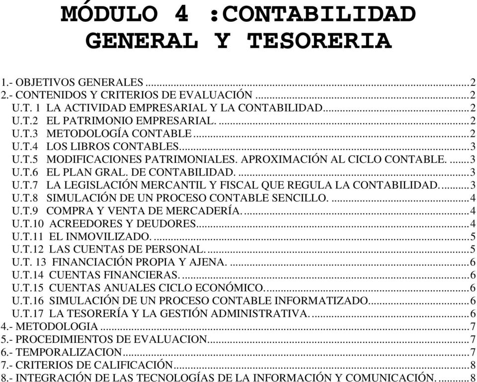 Módulo 4 Contabilidad General Y Tesoreria Pdf Free Download