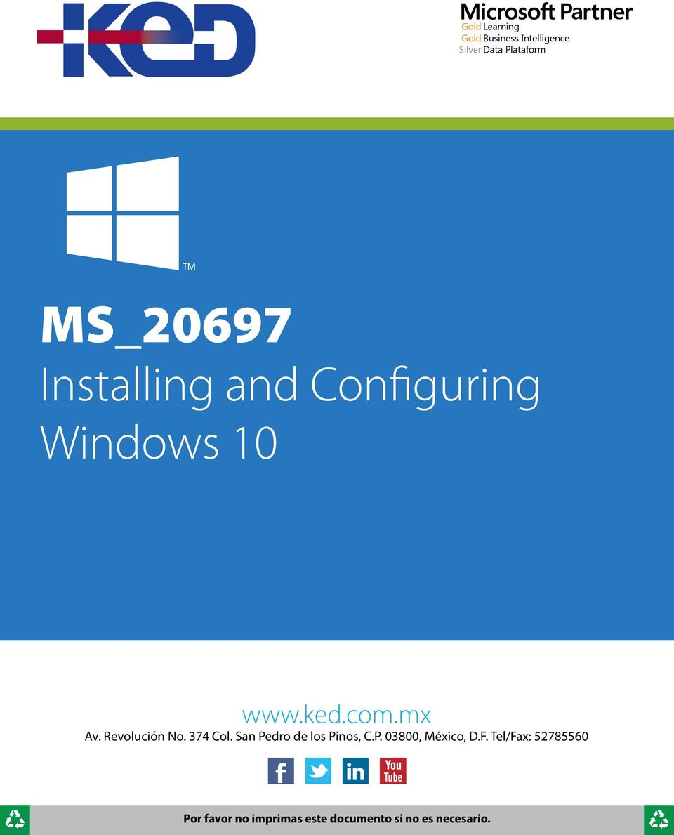 Configuring Windows 10 www.ked.com.