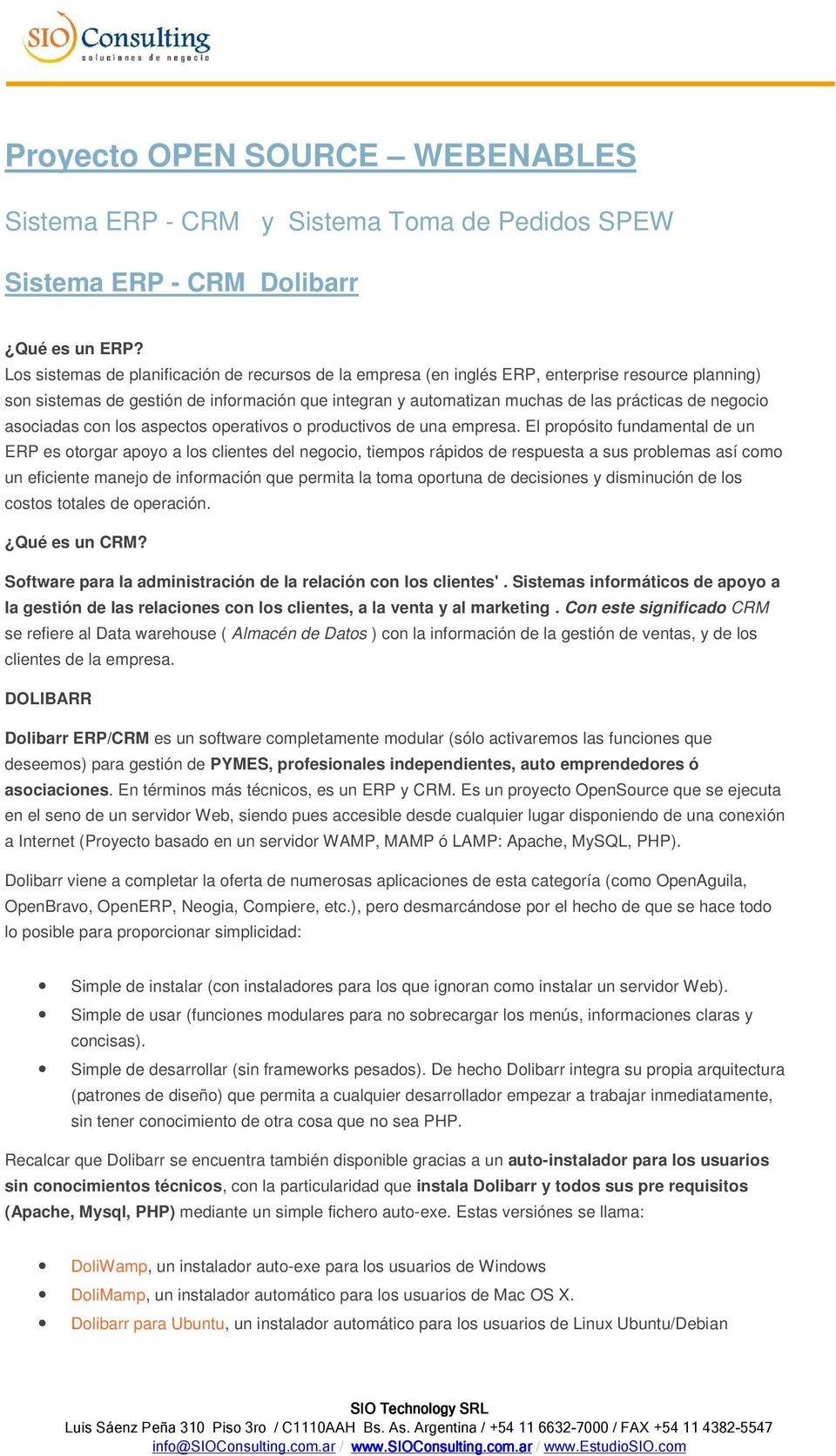 Proyecto OPEN SOURCE WEBENABLES - PDF