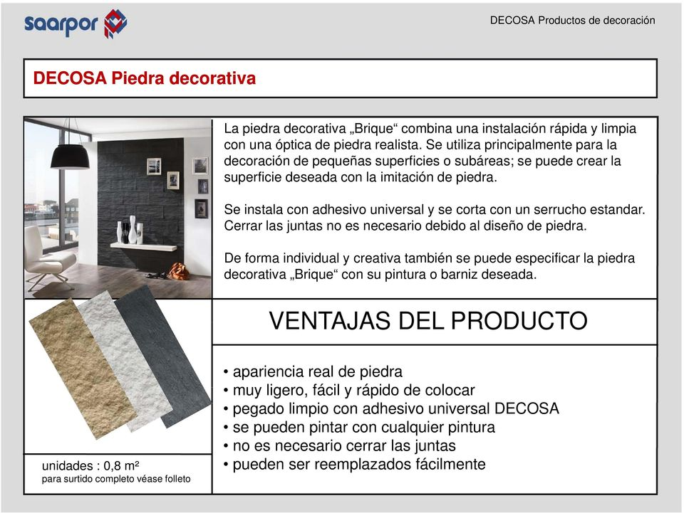 DECOSA Productos de decoración - PDF