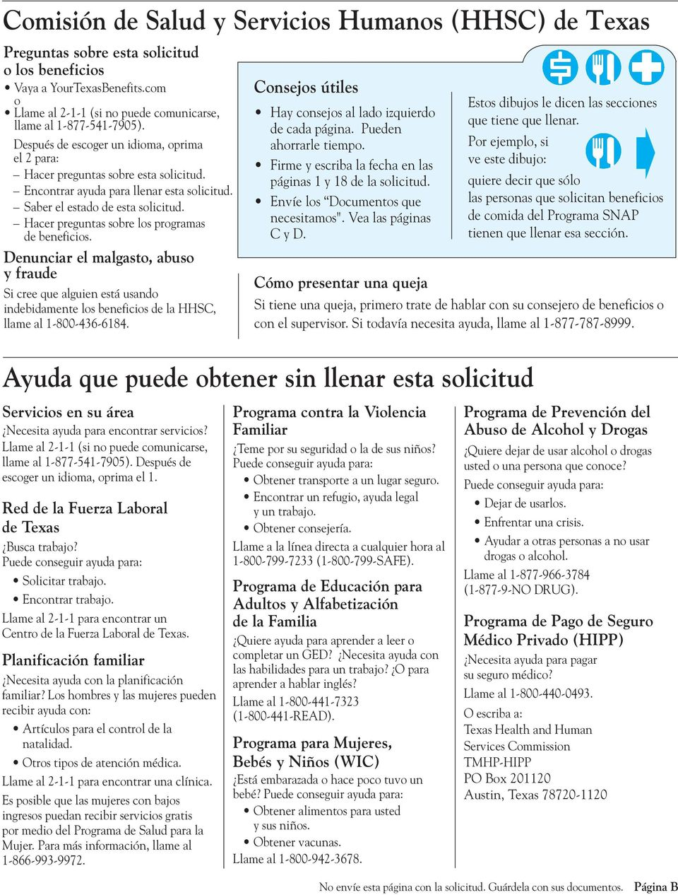 Your Texas Benefits: Para empezar - PDF
