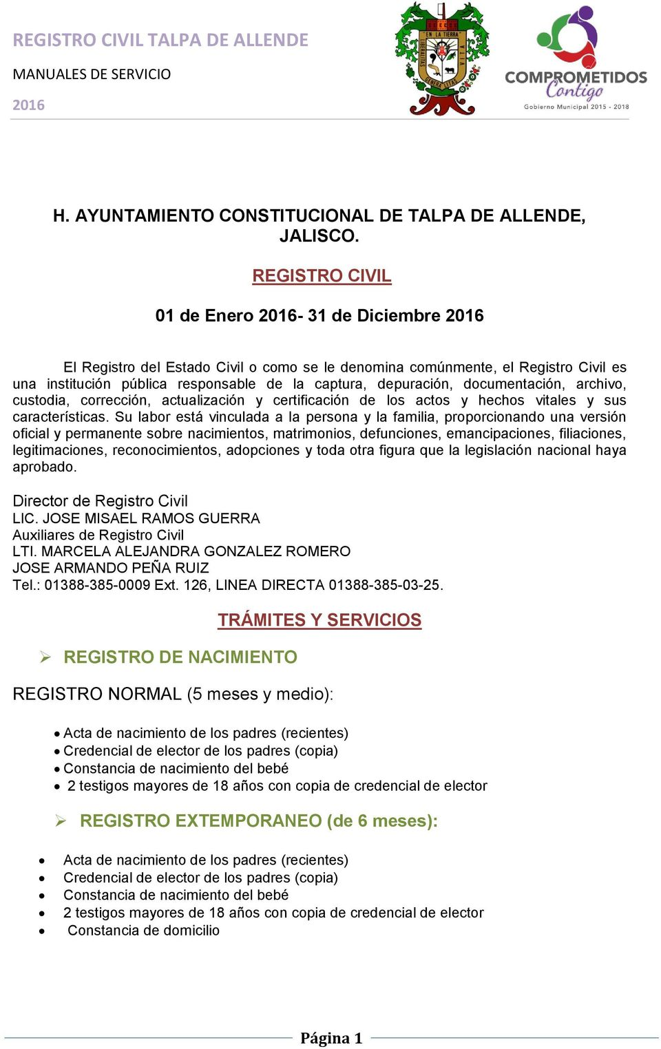 REGISTRO CIVIL TALPA DE ALLENDE - PDF