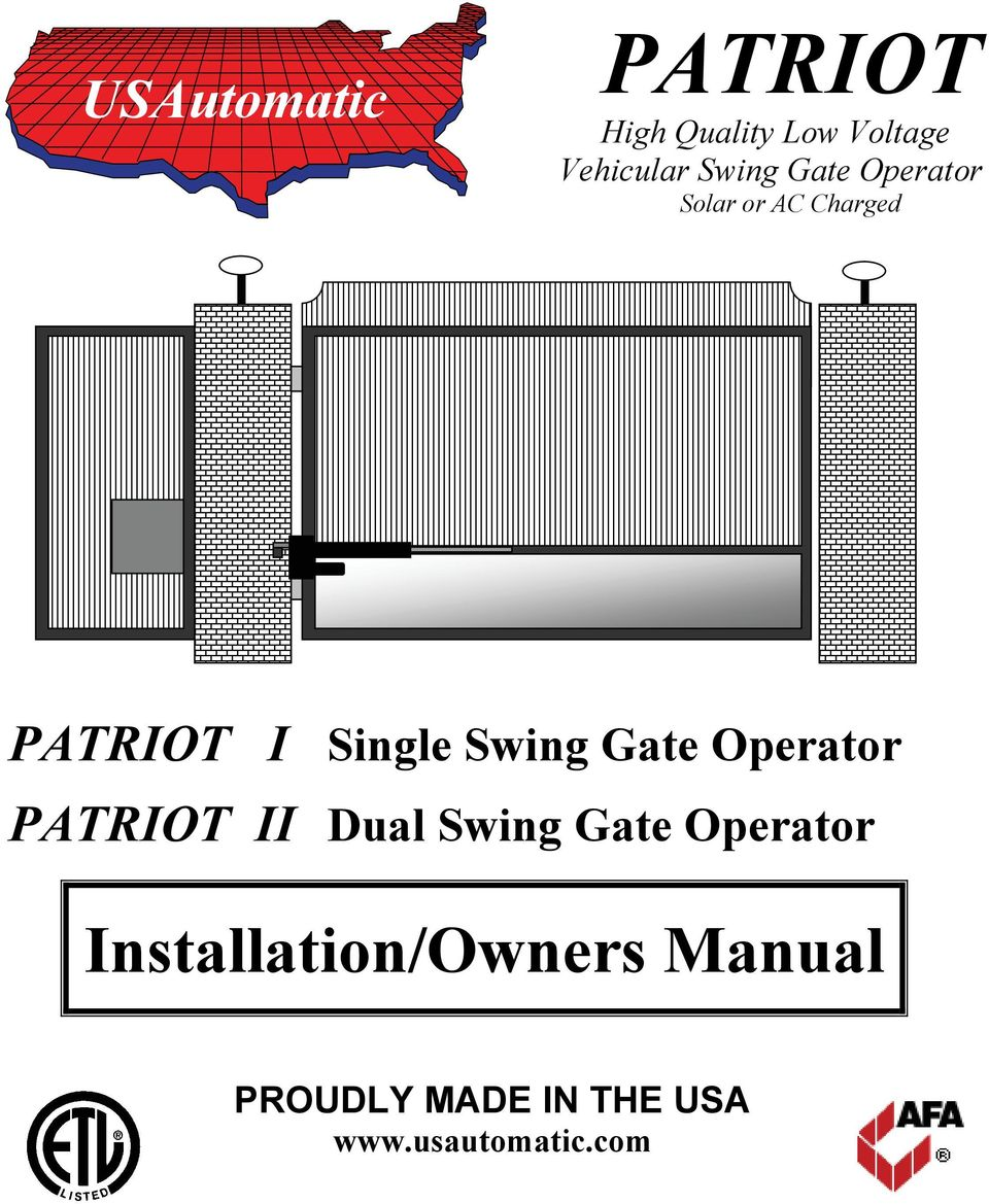 page_1 patriot high quality low voltage vehicular swing gate operator solar