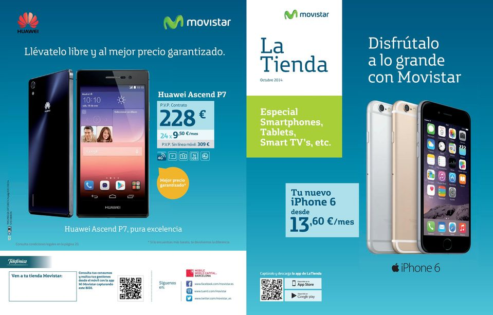 Movistar estrena financiación para packs de smartphones y
