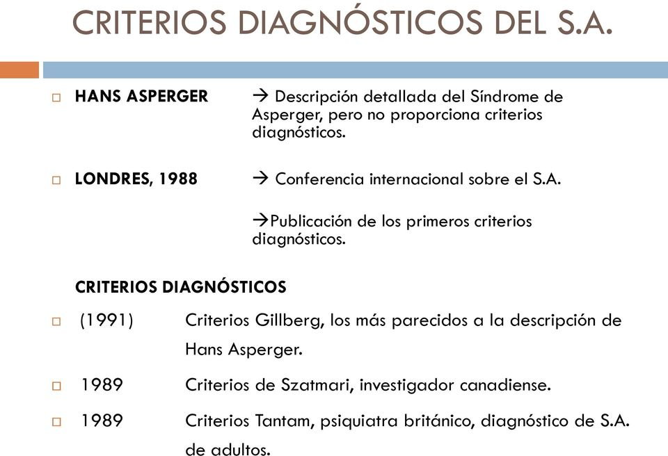 Sindrome de asperger criterios diagnosticos