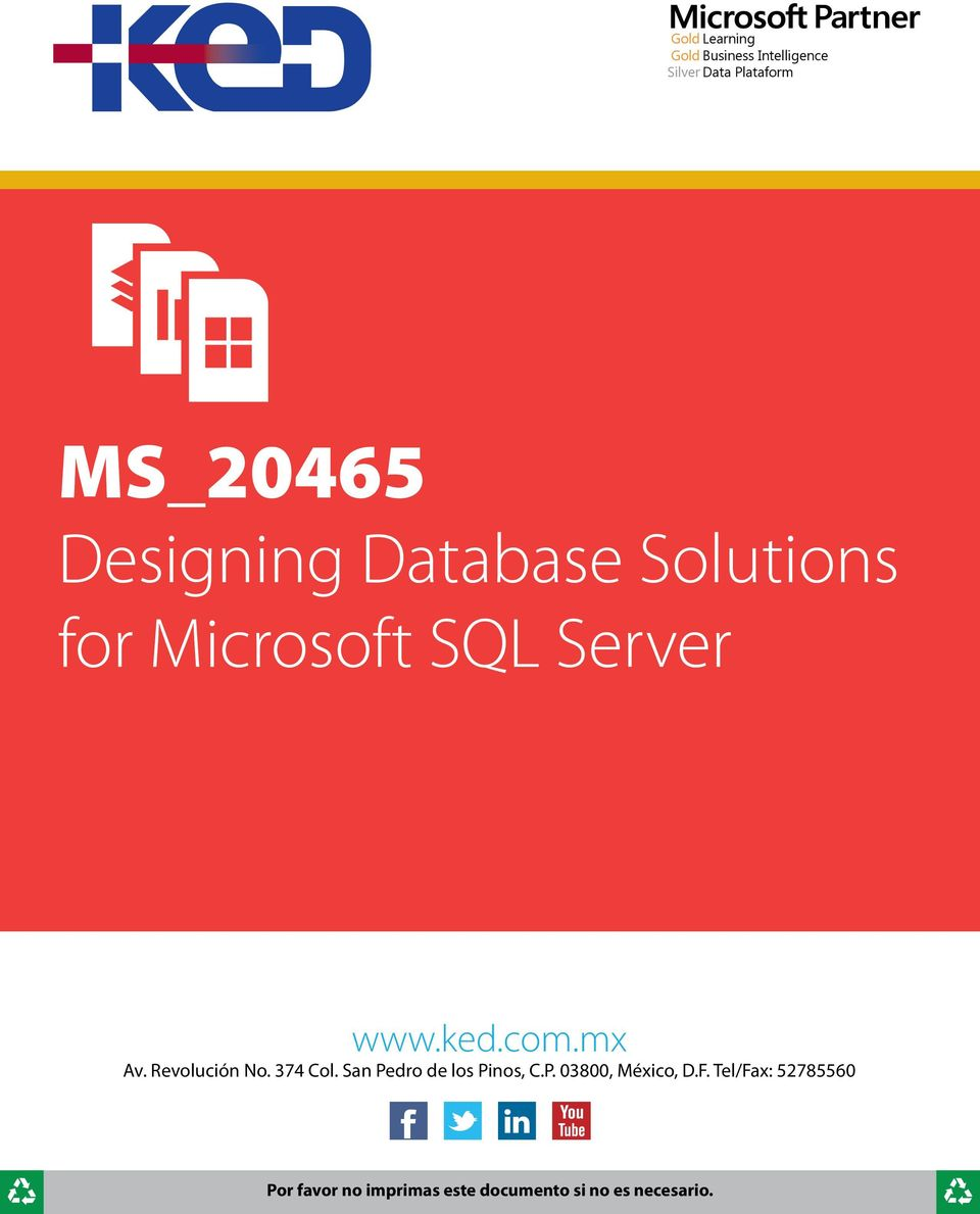 Solutions for Microsoft SQL Server www.ked.com.
