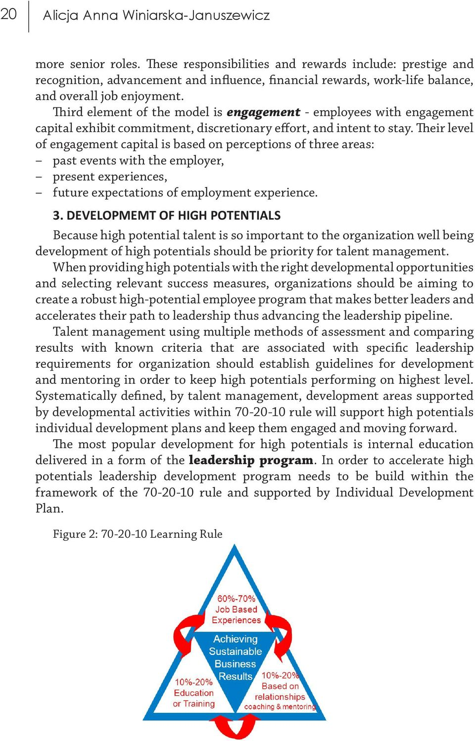 third element of the model is engagement employees with engagement capital exhibit commitment discretionary