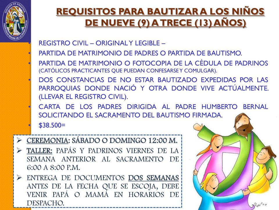 Matrimonio Iglesia Catolica Requisitos : Requisitos para bautizar en la iglesia catolica colombia