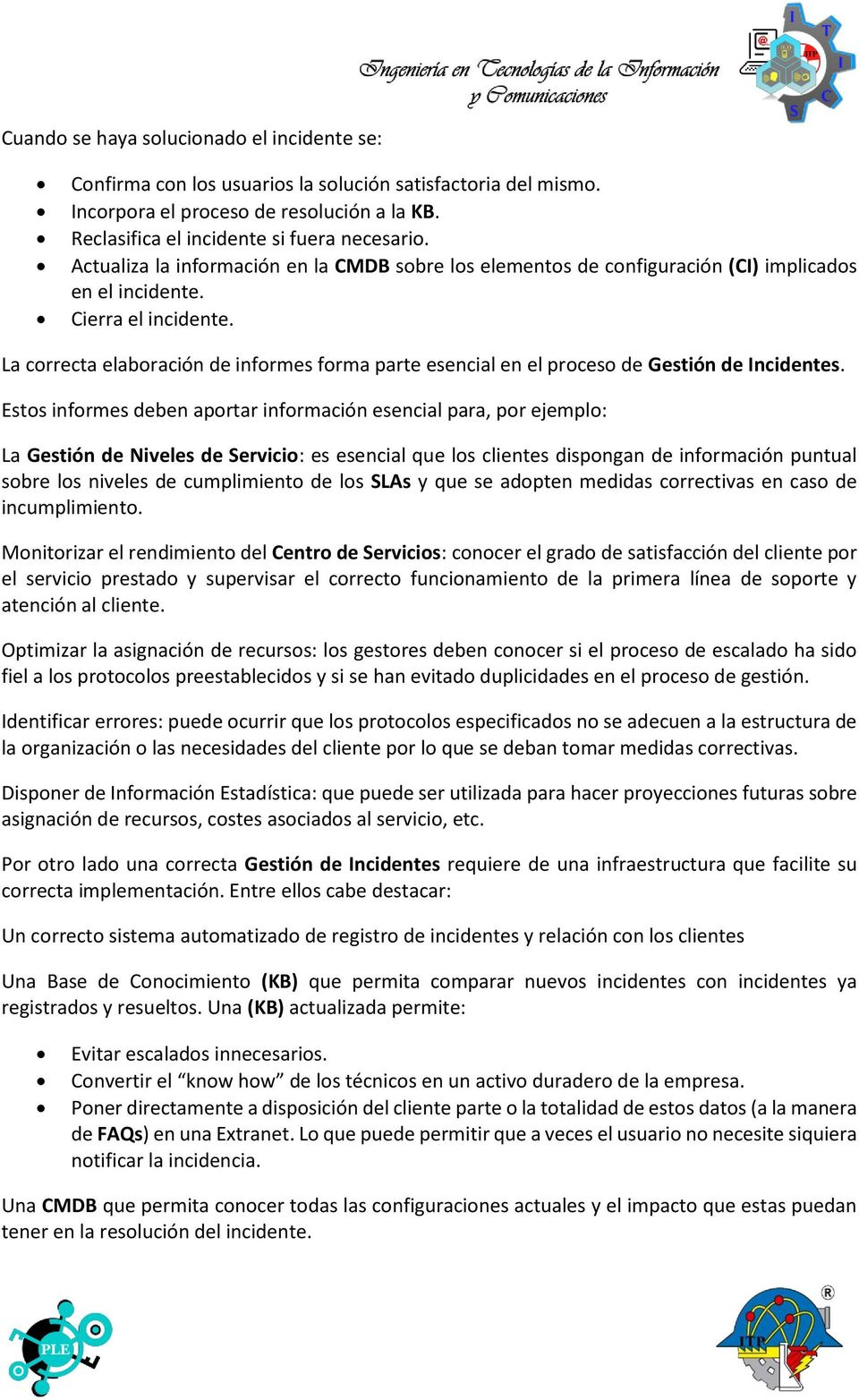 GESTIÓN DE INCIDENTES - PDF