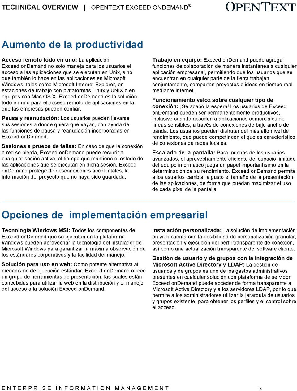 OpenText Exceed ondemand - PDF