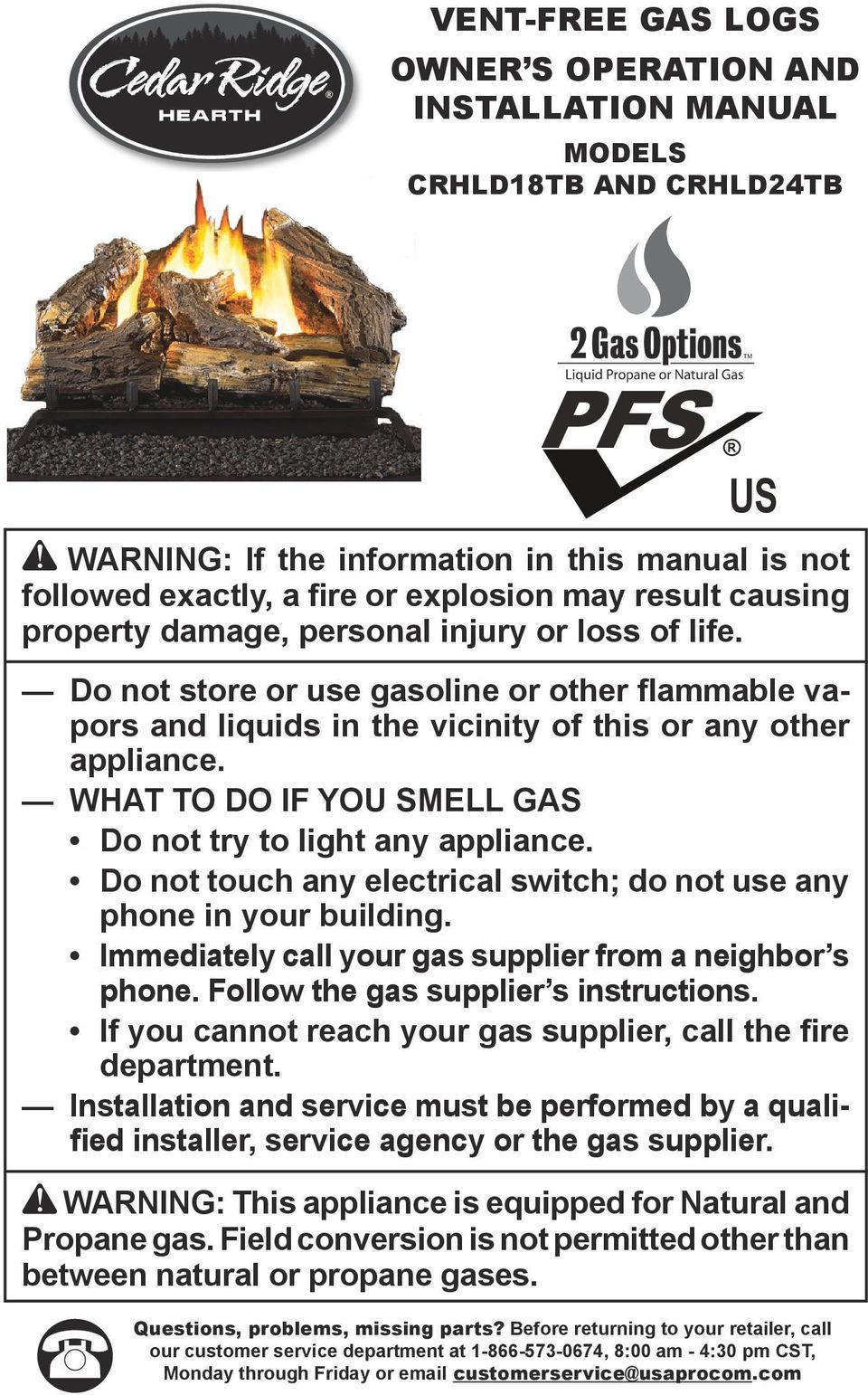 Warning This Appliance Is Equipped For Natural And Propane Gas Electric Refrigerator Wiring Schematic What To Do If You Smell Not Try Light Any