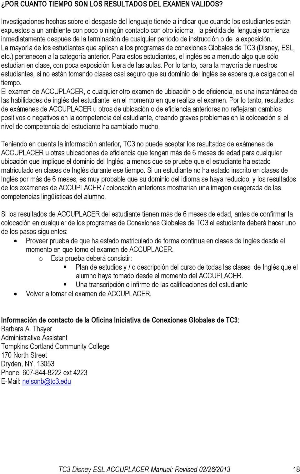 TC3 Disney ESL Manual de ACCUPLACER - PDF
