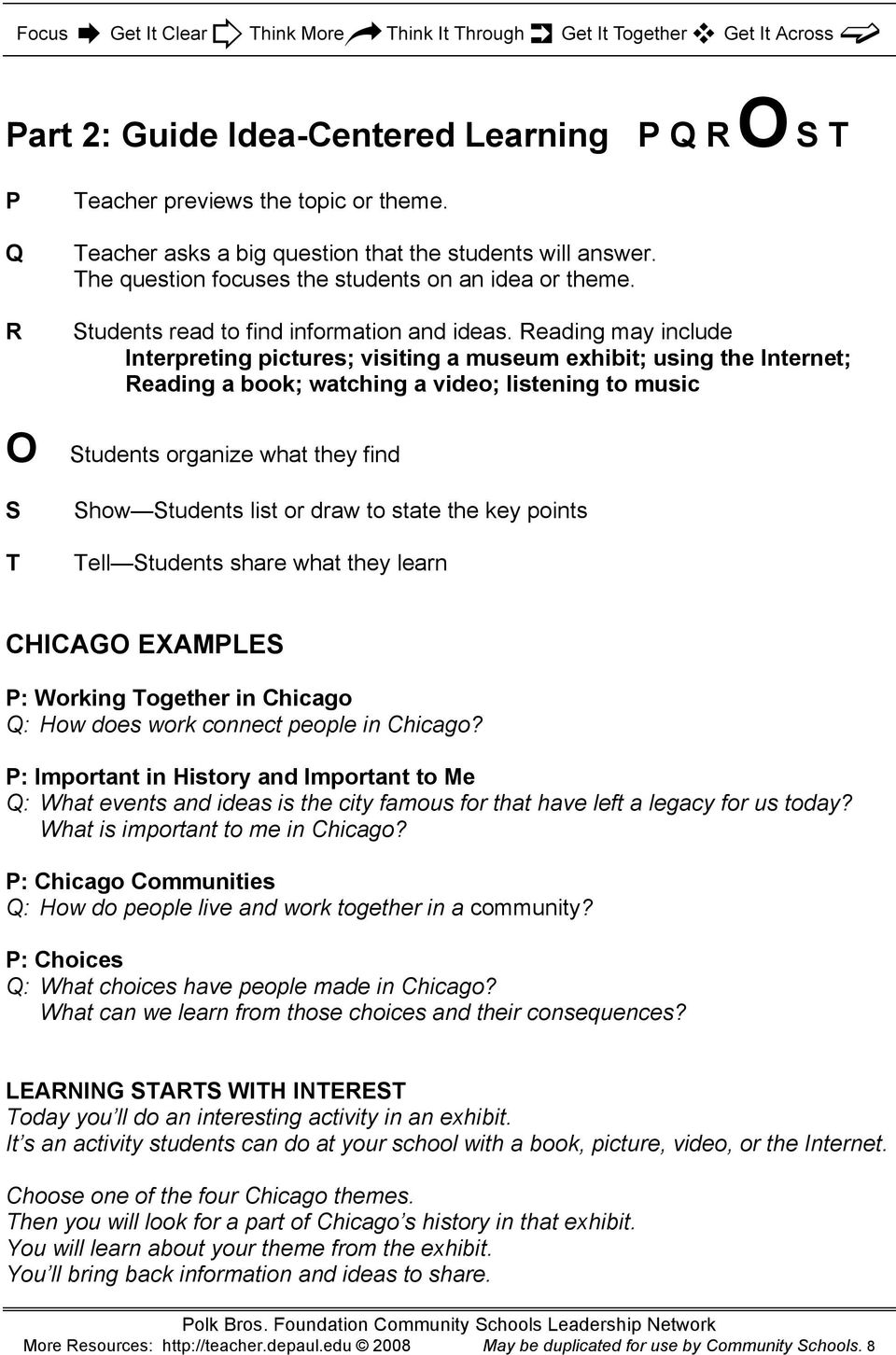 Chicago Connections. City Community Reading Writing Social Studies ...