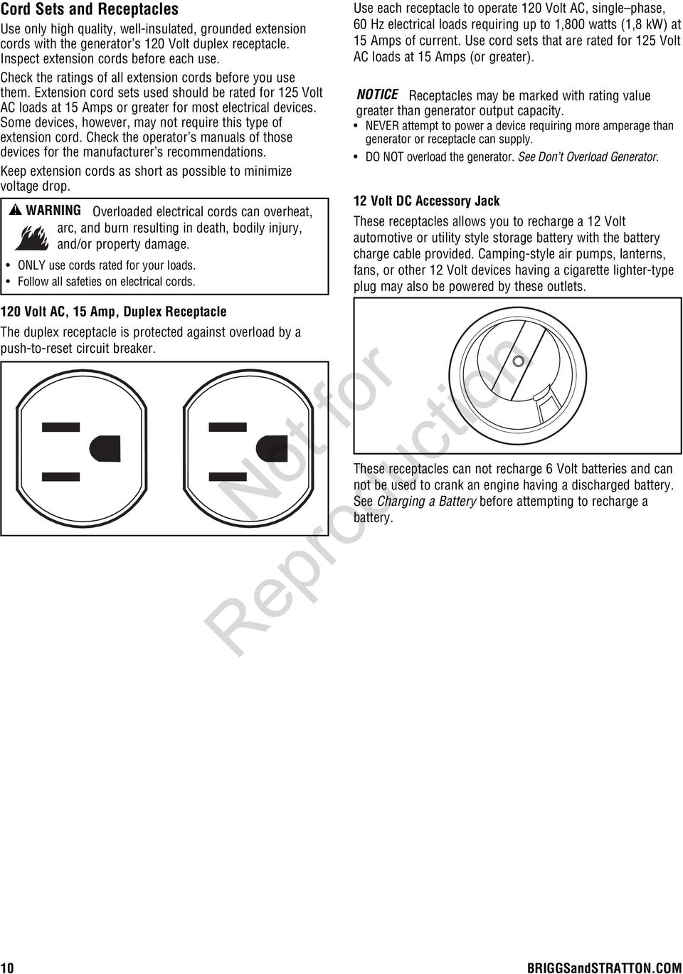 Portable Generator Operator S Manual Pdf An Electrical Circuit Also Requires A Power Source Battery Some Devices However May Not Require This Type Of Extension Cord Check The