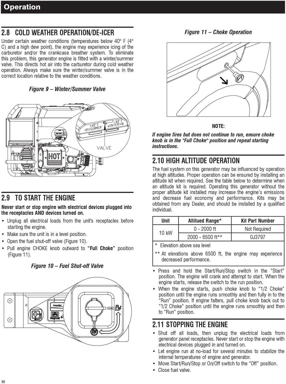 Owners Manual Xg Professional Series Portable Generator Model Or Identifying Critical Circuits To Run Off Of The Eliminate This Problem Engine Is Fitted With A Winter