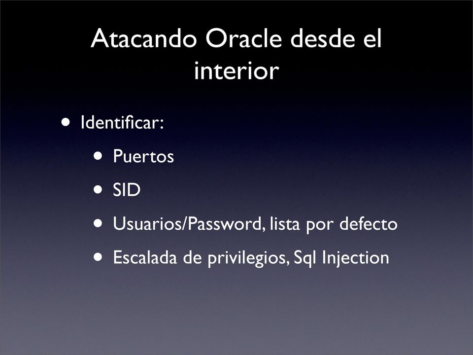 Usuarios/Password, lista por