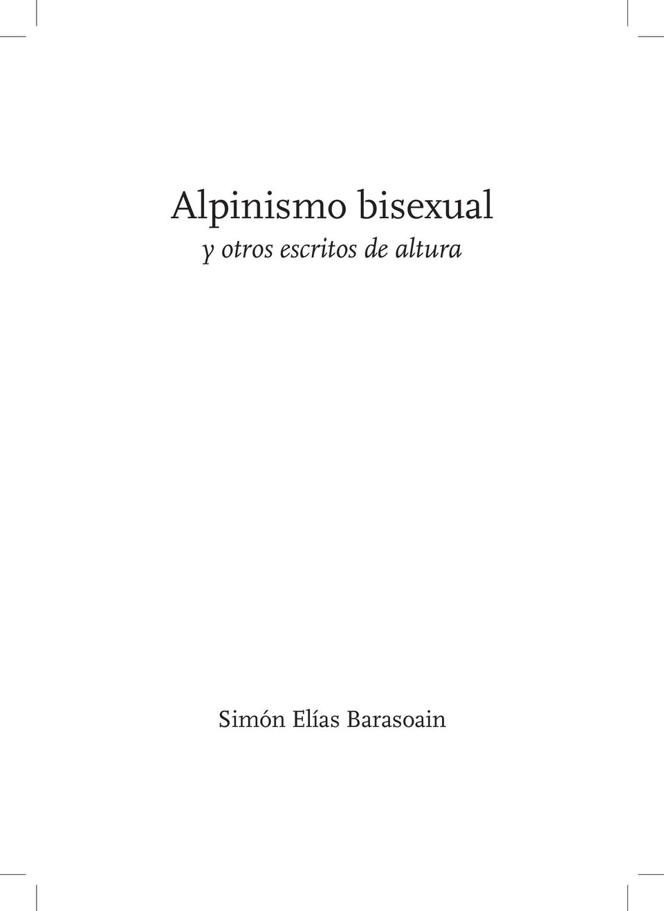 Alpinismo bisexual simon