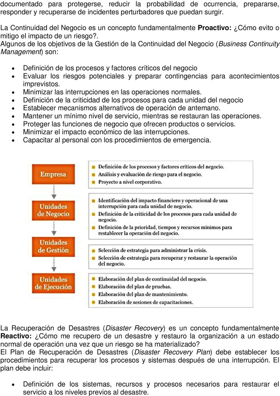 que es disaster recovery plan