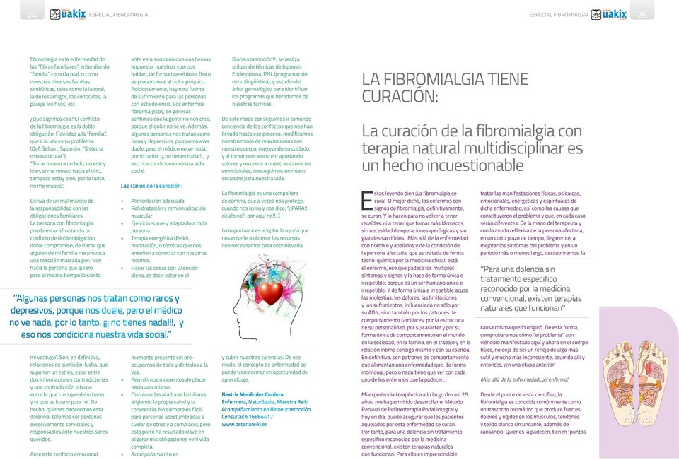 Fibromialgia REVISTA DIGITAL DEL OPTIMO DESARROLLO HUMANO - PDF