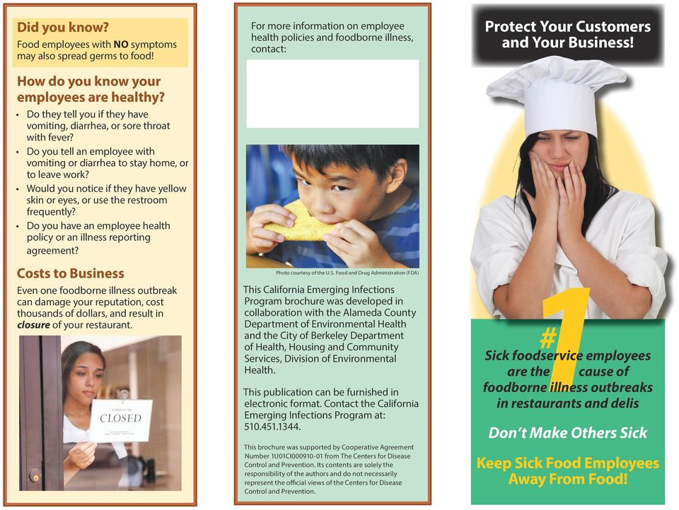 The Food Service Manager Employee Health Toolkit Pdf