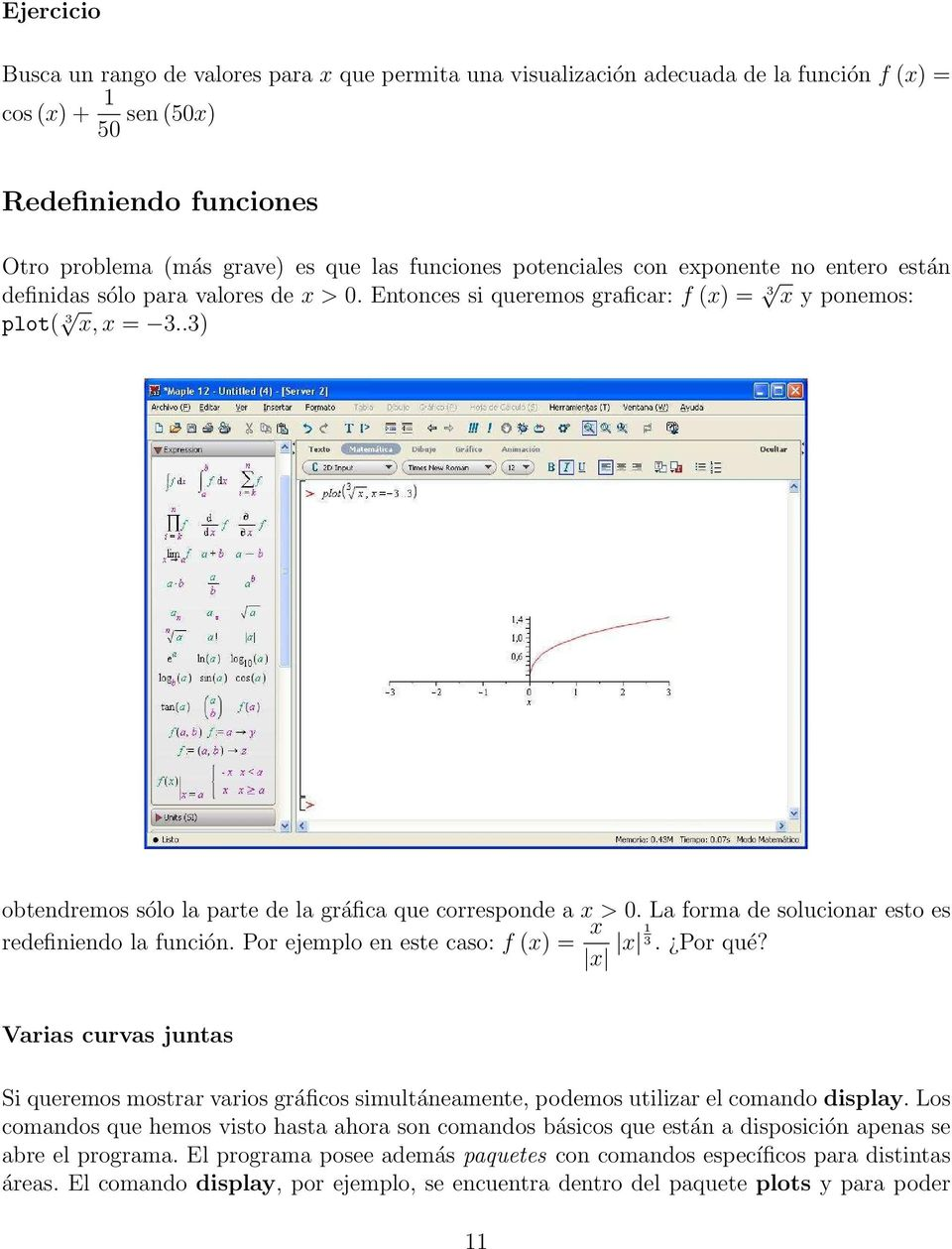 1. Graficando con Maple - PDF