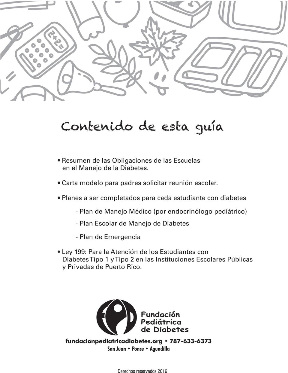 plan de manejo de diabetes escolar