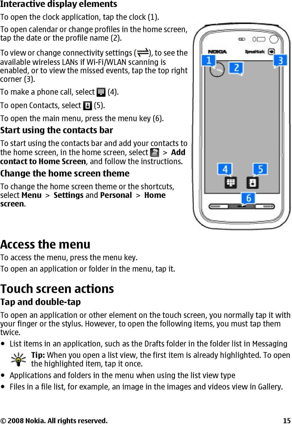 Nokia 5800 Xpressmusic User Guide Pdf Web Browser Diagram To Make A Phone Call Select 4 Open Contacts