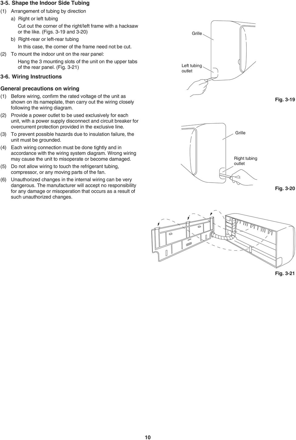 Installation Instructions Pdf 6 Wire Outlet Diagram Panel Fig 3 21 Wiring Grille Left Tubing