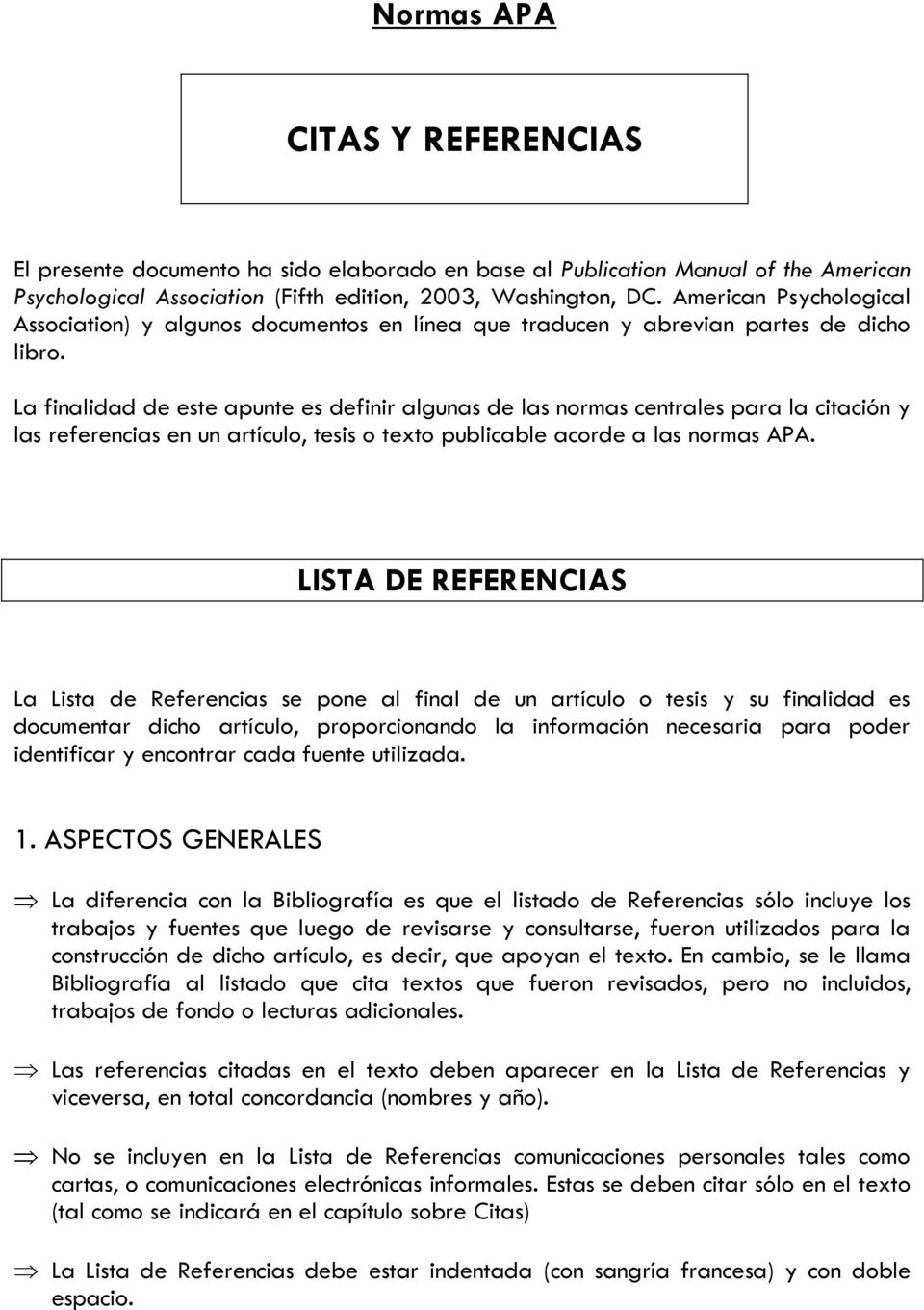 Normas Apa Citas Y Referencias Pdf Free Download