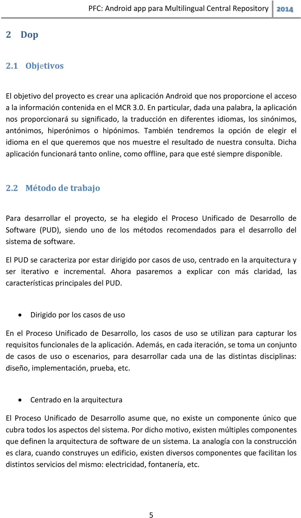 Android app para Multilingual Central Repository - PDF