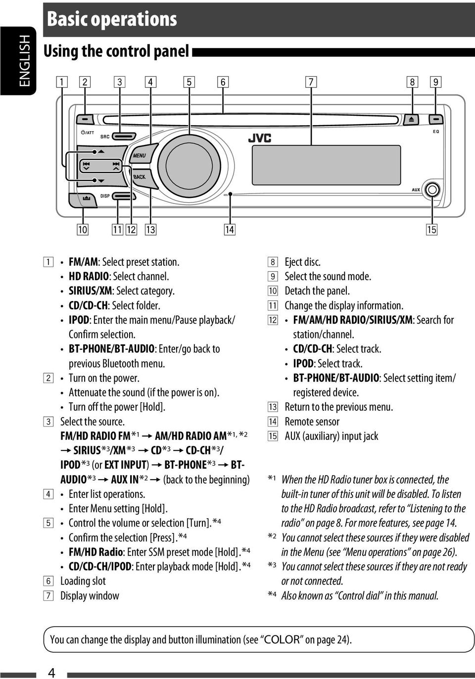Instructions Kd A305 R300 Cd Receiver Receptor Con Jvc G220 Wiring Diagram Turn Off The Power Hold 3 Select Source