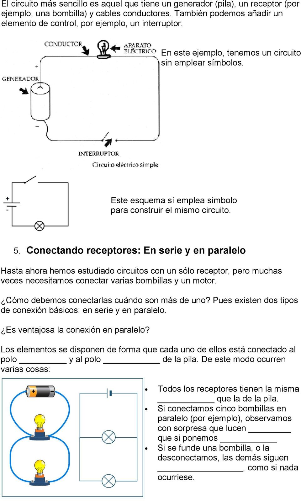 Circuito Electrico Simple : Tema 4: la electricidad pdf