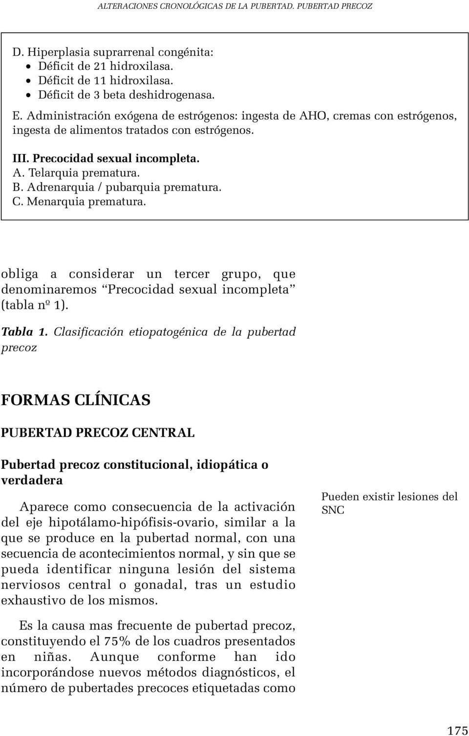 Pubertad precoz isosexual central