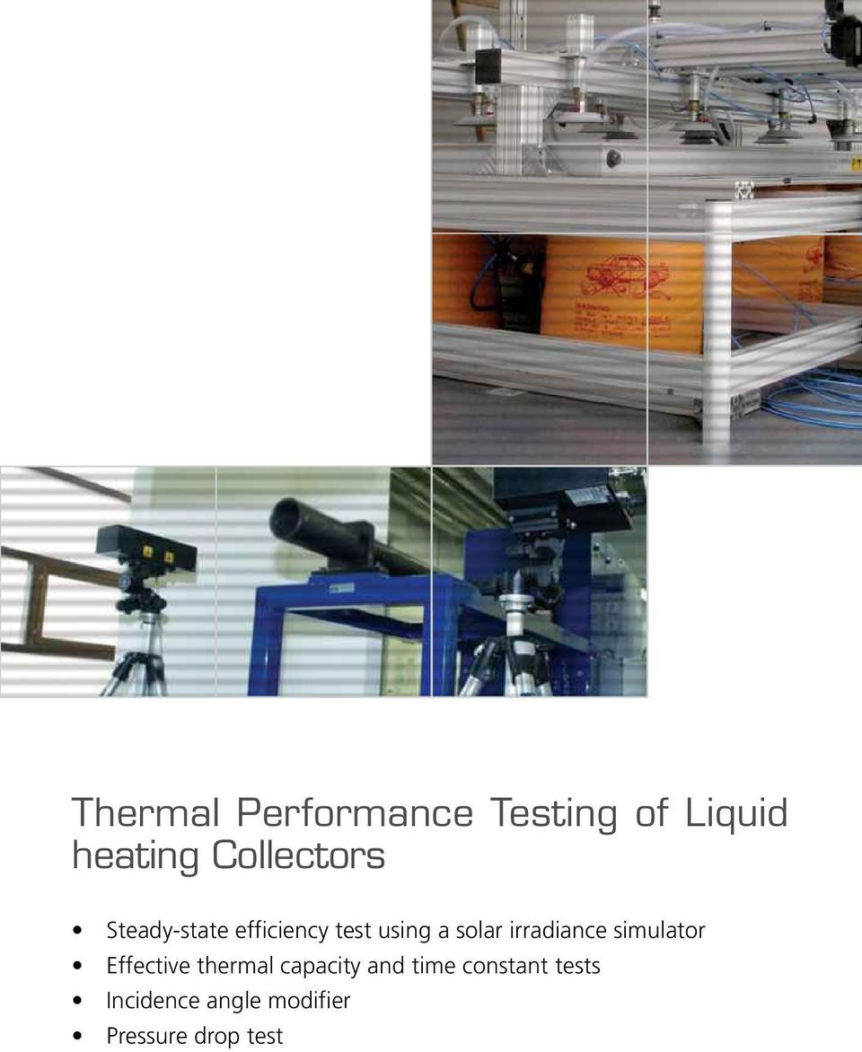 irradiance simulator Effective thermal capacity and